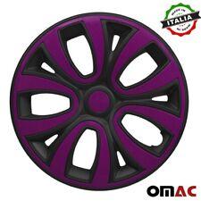 "15"" Inch Wheel Rim Cover for Mercedes Matt Black with Violet Insert 4pcs Set"