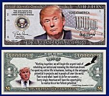 1- Donald Trump 2016  Presidential 45th President Million Dollar Bill-MONEY-I2