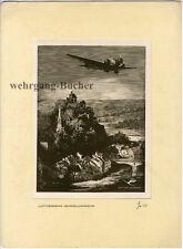 Masjutin: Ju 52 Deutsche Lufthansa, Luftverkehr-Schnellverkehr Holzschnitt  1937