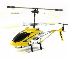 Genuine Syma S107G 3CH 3.5CH Mini Metal RC Helicopter with GYRO LED Light Yellow
