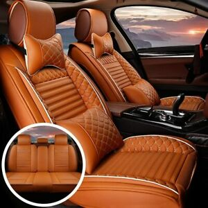 Car Seat Covers Fit For Toyota Tundra 2000-2021 Front & Rear Seat Cushion Orange