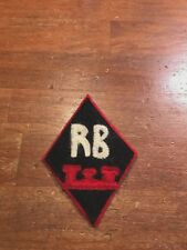 WWI US Army Camp Railroad Engineers battalion patch AEF