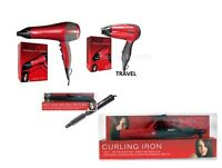 HOT AIR SOFT CURL CURLING BRUSH / TONG STYLER / HAIR DRYING DRYER TRAVEL