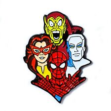 Book Art Pendant Lapel Hat Pin Spider-man Firestar Green Goblin Ice Man Comic