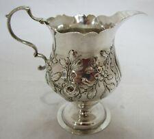 Antique Georgian Sterling silver embossed jug, 1768, 86g