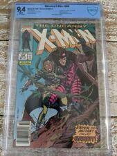 Uncanny X-Men #266 CBCS 9.4 (Not CGC) MARK JEWELERS Newsstand Ed. / 1st Gambit