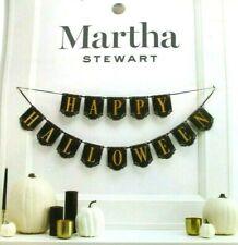 Martha Stewart Diecut Chipboard Happy Halloween Bunting Banner Garland - NOB