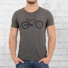 Greenbomb bicicleta señores t-shirt beach cruiser gris hombres tshirt algodón ecológico