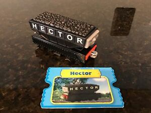 Thomas & Friends TAKE N PLAY DIECAST HECTOR THE HOPPER TRUCK  W/CHARACTER CARD