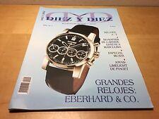 Revista DIEZ y DIEZ Magazine - Nº 1 2002 - Eberhard - Relojes y Joyas - Español