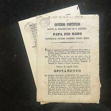 Original MANUSCRIPTS~ITALY-1852=ROME=PAPA PIO NONO TRIBUNALE- 4dcs#02007