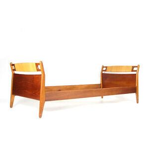 Retro Vintage Danish Teak Single Day Bed Frame 1960s 70s Mid Century Modern Oak