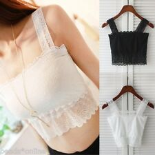 Korean Womens Lace Bowknot Wrapped Chest Bra Straps Large Vest Tube Tops