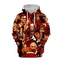 horror movies clown 3D Print Hoodies Mens Women Casual Pullover Sweatshirts Tops