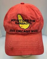 Mount Gay Rum Cap Hat CYC 2001 Chicago Nood Yacht Race Faded Red Men OSFA