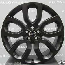 "GENUINE RANGE ROVER L405/494 SPORT 22""INCH STYLE 504 SATIN BLACK ALLOY WHEELS X4"