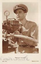 RPPC RAMON NOVARRO ACTOR MILITARY REAL PHOTO POSTCARD (c. 1930s)