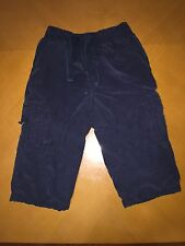 Baby Boys Toddlers Gymboree Dark Navy Cargo Warm Pants Size 12-18 Months