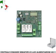 CENTRALE COMANDO SEMAFORO AUTOMATICO MANUALE 2 SEMAFORI 2/3 LUCI220 V. O LED 24