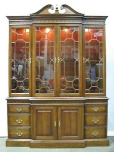 Pennsylvania House Solid Cherry Chippendale Style China Cabinet/Breakfront