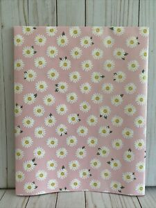 Pretty Pink With Daisies Wrapping Paper Gift Wrap 48 In (4 Feet) x 30 Inches New