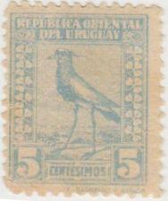 (UG-70) 1923 Uruguay 5c blue southern lap wig (I)