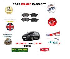 pour Peugeot 3008 1.6 VTI 2009- > plaquette frein arrière SET