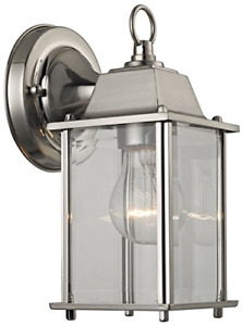 Thomas Lighting 1-light Outdoor Wall Sconce, Brushed Nickel