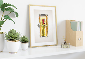 Tennents Pint Lager Wall Print | A4 | Art Gift | Home Decor | Scotland Scottish