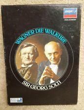 Wagner Die Walkure Sir Georg Solti Digital Re-Master 3 Cassette Tape Set