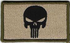 Multicam Punisher Skull Morale Patch VELCRO® BRAND Hook Fastener Compatible