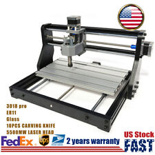 5500mw Laser Head Cnc 3018 Pro Machine Router Engraving 3 Axis Pcb Wood Diy Mill