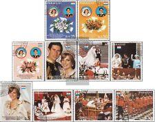 Paraguay 3455-3464 (kompl.Ausg.) gestempelt 1981 Hochzeit Charles und Diana