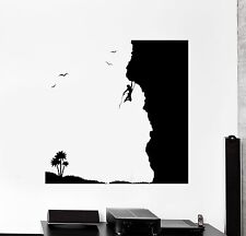 Wall Vinyl Sticker Decal Extreme Sports Climber Nature Rock Hill (ed472)