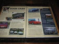 Riley RMF, Porsche 944 Lux, MGB, MGB GTV8, A40, MR2, alfretta GTV6, Renault 16