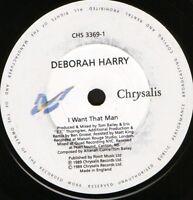 "DEBORAH HARRY i want that man 7"" WS EX/ uk CHS 3369-1"