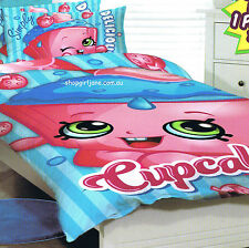 Shopkins - Cupcake - Single/US Twin Bed Quilt Doona Duvet Cover set