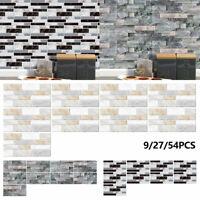 Kitchen Mosaic Tile Stickers Bathroom Waterproof Self-Adhesive Wall Decor Paper