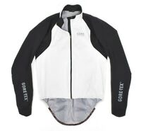 Mens Gore Bike Wear Oxygen Gore-Tex Active Shell Jacket White Cycling Zip XL
