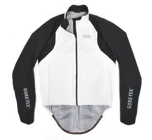 Mens Gore Bike Wear Oxygen Gore-Tex Active Shell Jacket White Cycling Zip XL