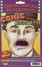 Comic Moustache Charlie Chaplin Black Fancy Dress Halloween Costume Accessory