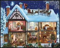 Christmas House - DIY Chart Counted Cross Stitch Patterns Needlework DMC Color
