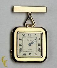 Antique Cartier Gold Square Pocket Watch, 29 Jewels Repeater w/ Original Pouch