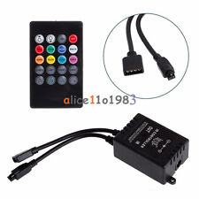 12V DC Music Sound Activated Controller For RGB LED Light Strip 20 Key Remote