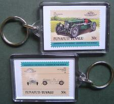 1935 ASTON MARTIN ULSTER Car Stamp Keyring (Auto 100 Automobile)