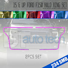 15-17 F-150 Bluetooth Multi-Color Angel Eyes LED RGB Headlight Halo Ring Set
