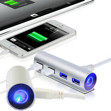 alta velocità 5Gbps Alluminio USB 3.0 4 Porte Splitter Adattatore Hub Luce Led