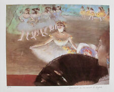 EDGAR DEGAS DANCER WITH BOUQUET Estate Signed & Stamped Ltd Edition Small Giclee