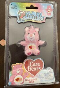 LOVE-A-LOT BEAR World's Smallest Care Bears ~ Series 2 ~ Pink w/Hearts ~ NIP!