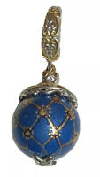 Michael Valitutti Sterling Silver Gems Charmed en Vogue Painted Agate Bead Charm